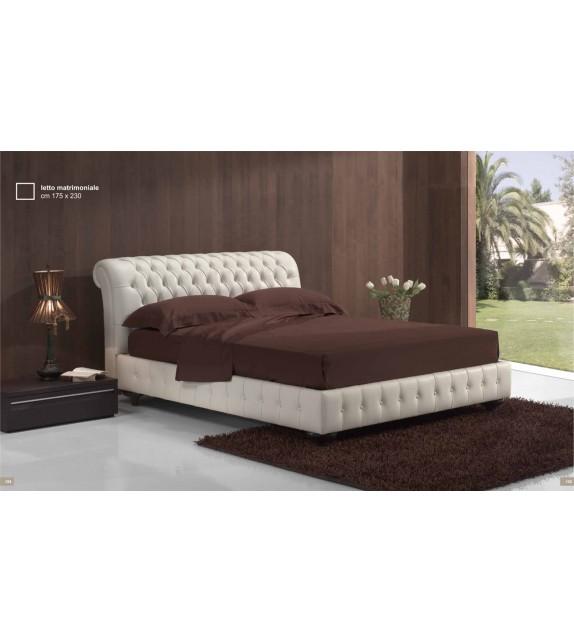 Luxusní kožená postel Sisley