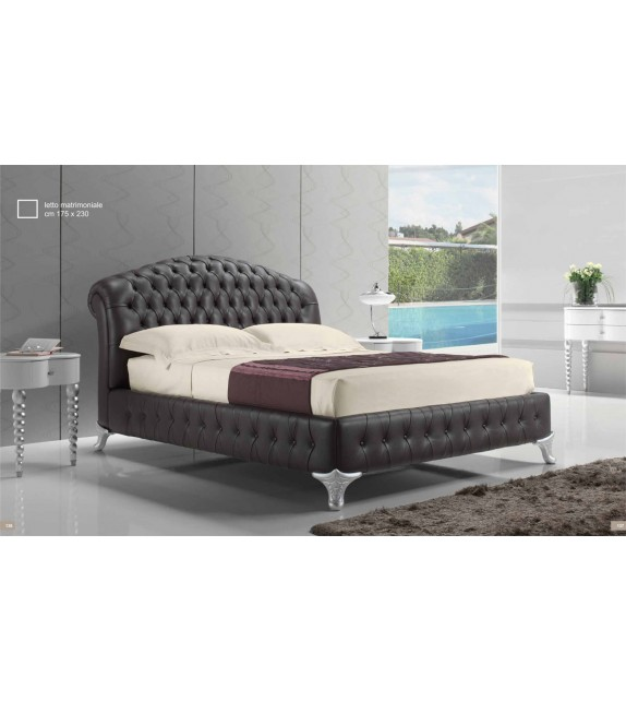 Kožená postel Radical